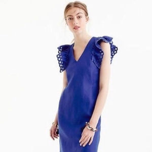 J.CREW Collection Ruffle-Shoulder Sheath Dress 6